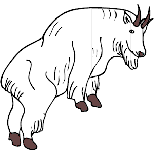 Mountain Goat clipart Svg Goat svg Download Mountain