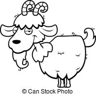 Vector standing and Illustration Goat