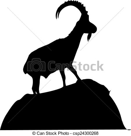 Mountain Goat clipart two goat Goat of Clip mountain detailed