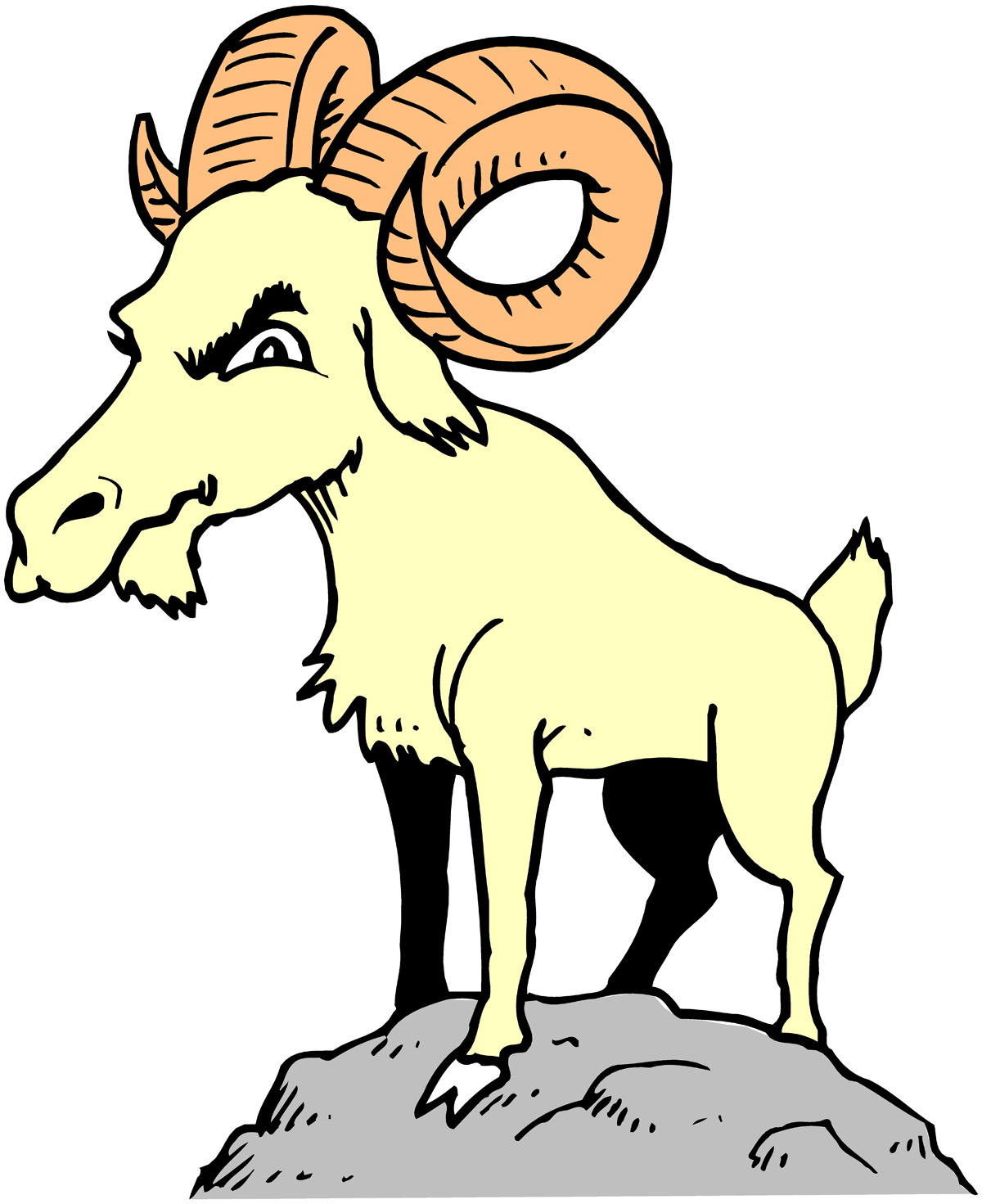 Mountain Goat clipart kid goat #8