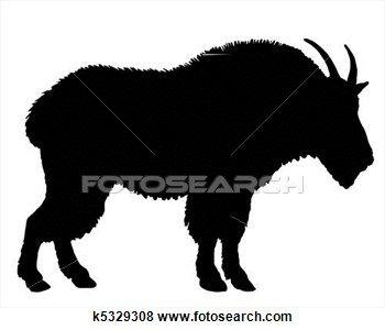 Mountain Goat clipart printable Goat 25+ Illustration shilouette mountain