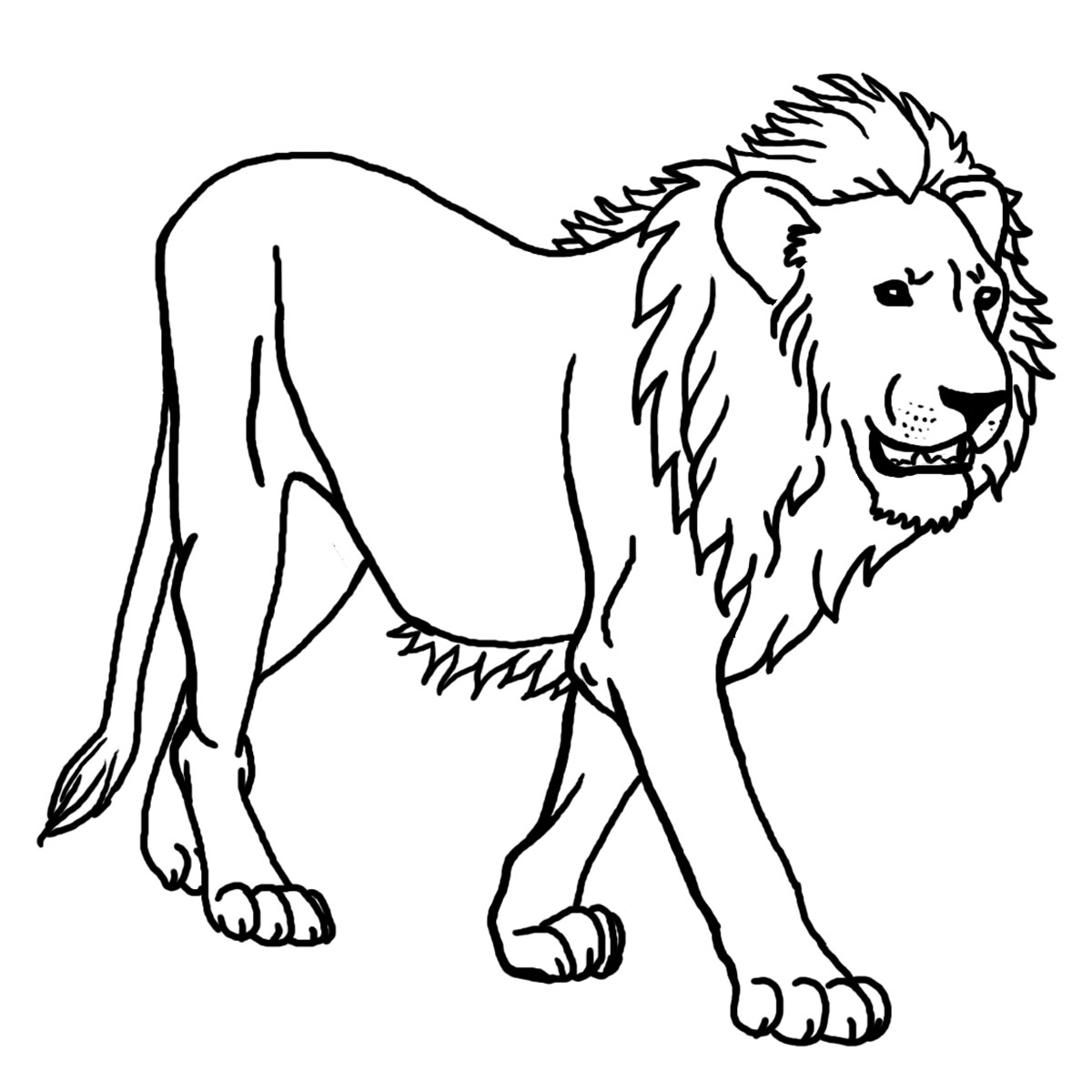 Big Cat clipart lion outline And Lion and WikiClipArt black