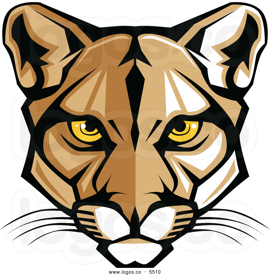 Big Cat clipart orange objects A of of logo of
