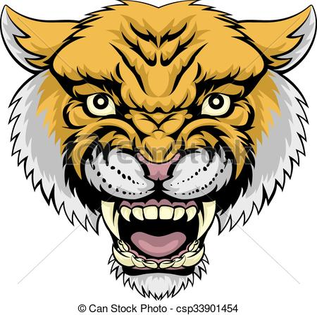 Wildcat clipart scared A of Lion illustration Wildcat