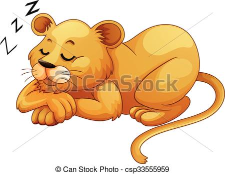 Cute free sleeping Lion Images