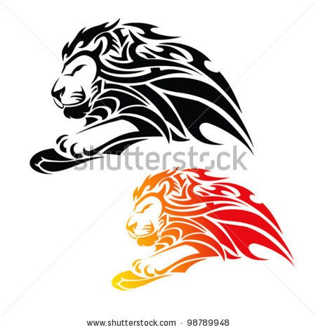 Mountain Lion clipart tribal #9