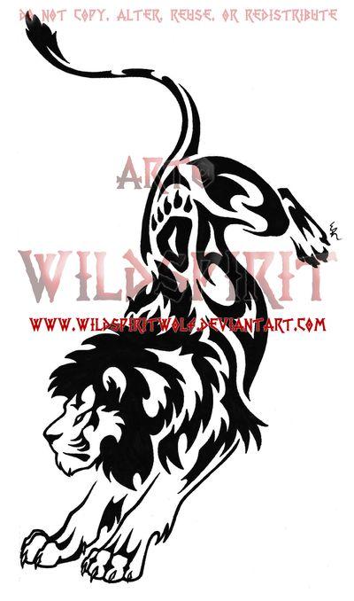 Mountain Lion clipart tribal #14