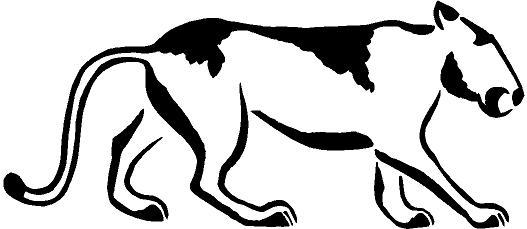 Mountain Lion clipart tribal #11
