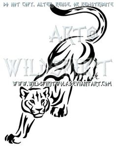 Mountain Lion clipart tribal #7