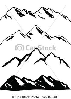 Mountain Ridge clipart Vector clip Various snow art