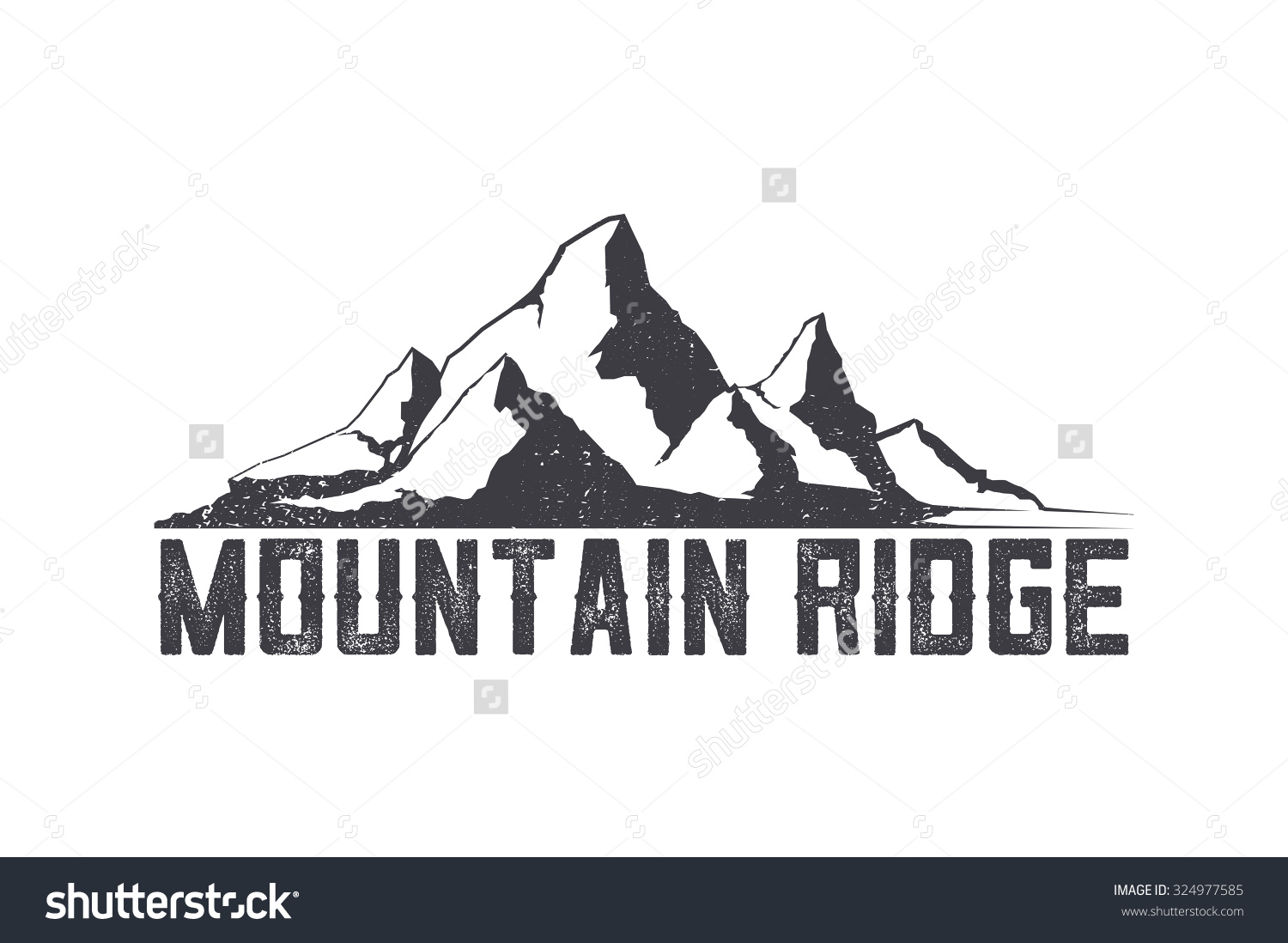 Himalaya clipart mountain ridge Clipart Mountain Ridge clipart drawings