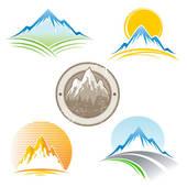 Mountain Ridge clipart snow mountain Clip GoGraph vector Set of
