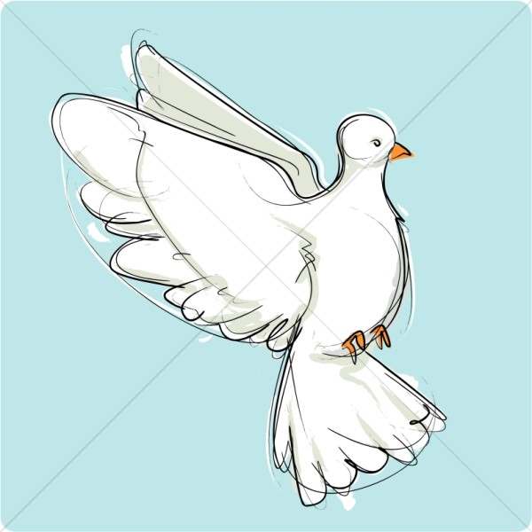 Mourning Dove clipart pigeon flying Flying Peace Art Page Graphic