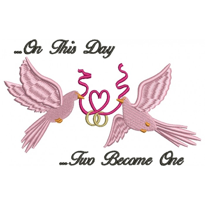 Mourning Dove clipart wedding ribbon #embroidery Digitized Filled Design Embroidery