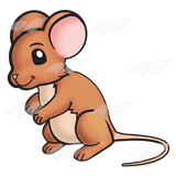 Mouse clipart brown mouse #8