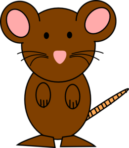 Mouse clipart brown mouse #6