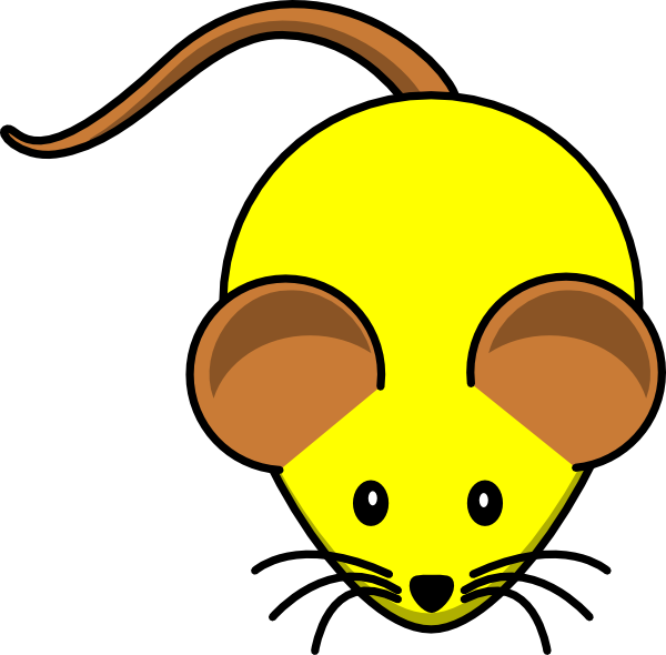 Mouse clipart brown mouse #7