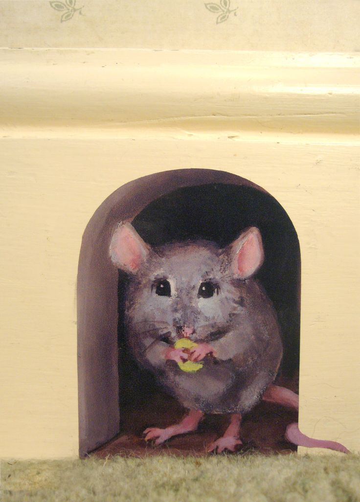 Mouse clipart hole in wall / holes wall mouse children's