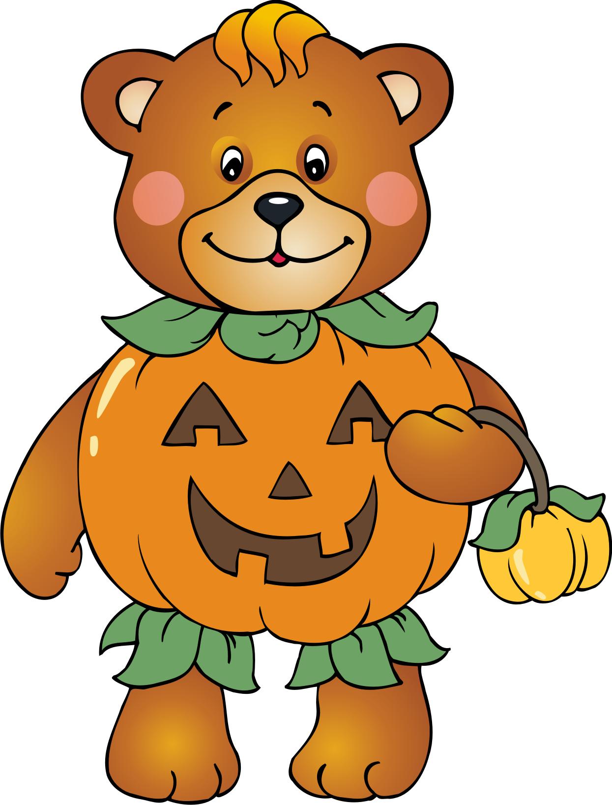 Bear clipart autumn #4