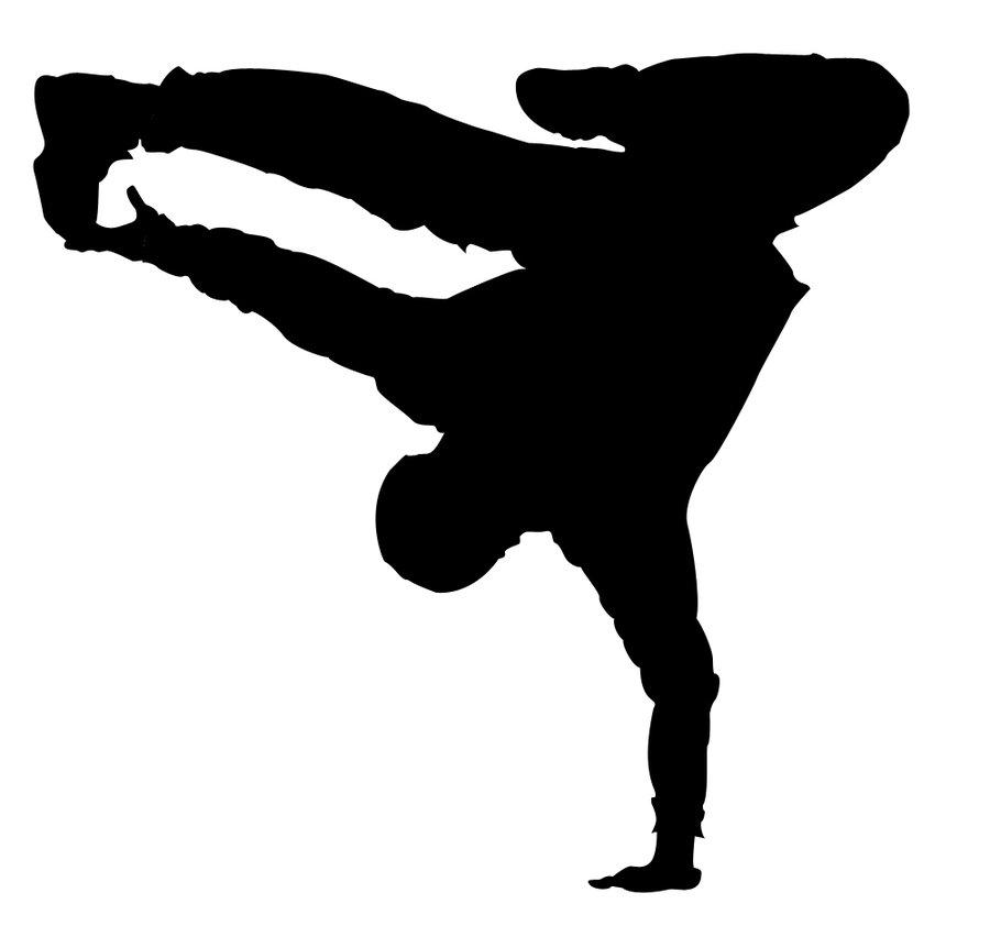 Danse clipart hip hop Silhouette Fin Dancer Leap Pinterest