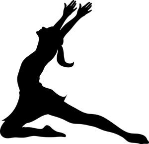 Gymnastics clipart dance Silhouette Clipart a ballerina ballerina