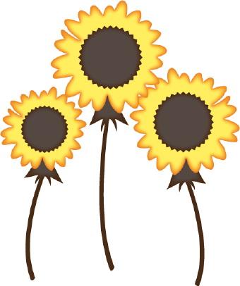 Yellow Flower clipart black and white Art Flower clip Sunflowers art