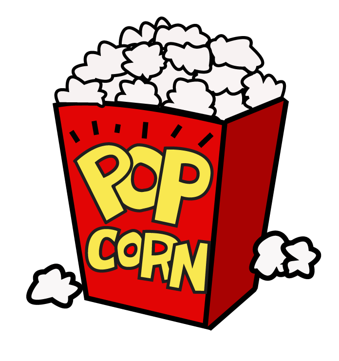 Popcorn clipart stall Movie and art night clipart