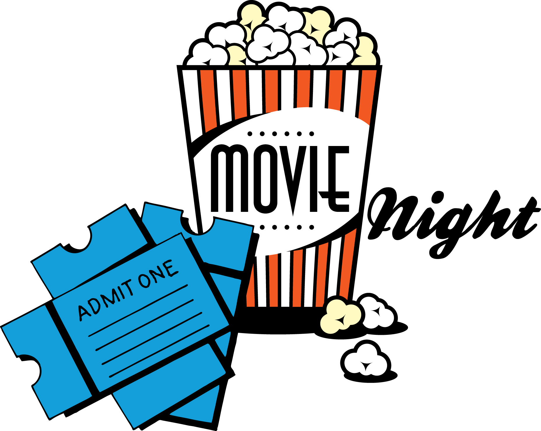 Night clipart cartoon Movie%20night%20popcorn%20clipart Night Clipart Images Free