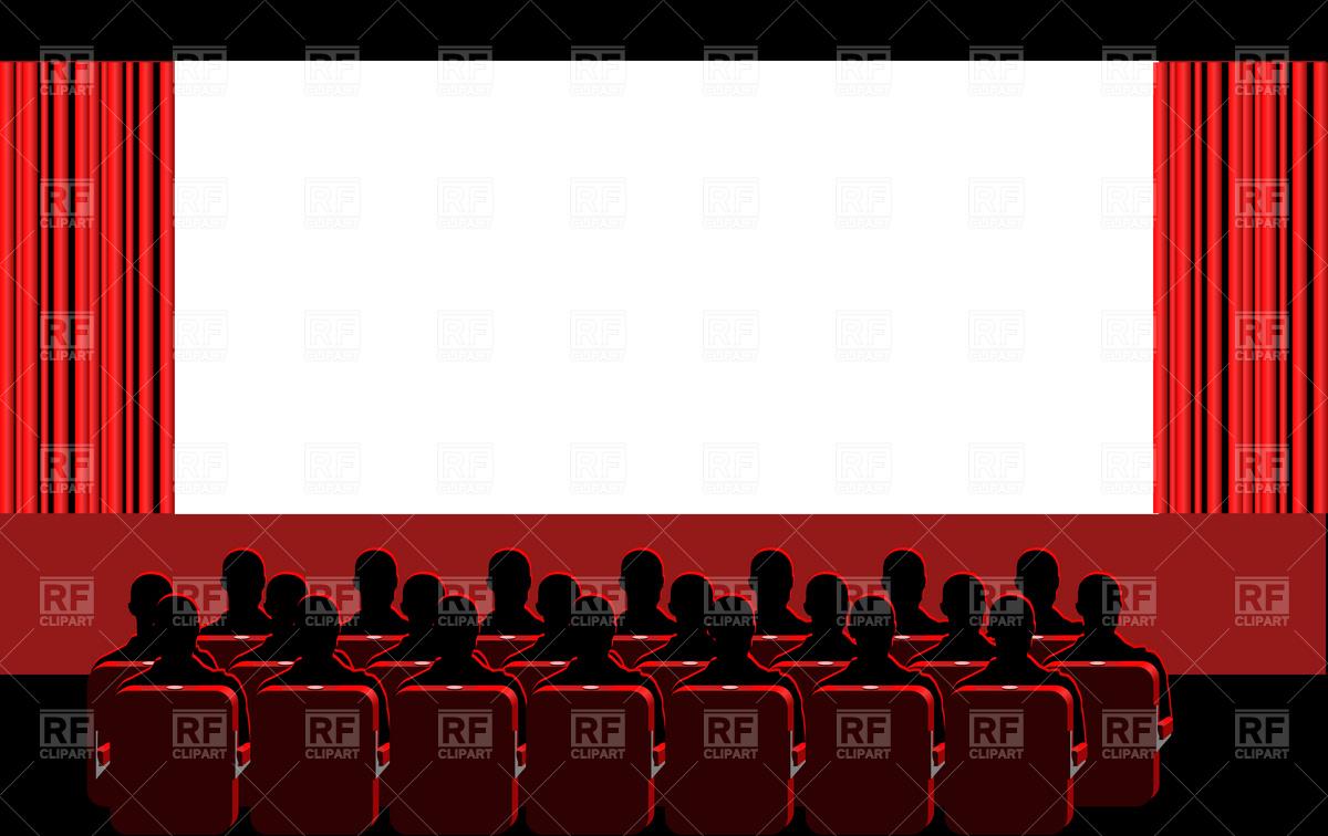 Theatre clipart cinema screen Free theater Wallpaper blue clipart
