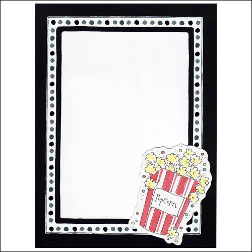 Popcorn clipart border Clipart – art popcorn popcorn