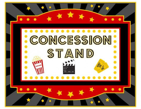 Carneval clipart concession stand Movie night concessions concessions Movie