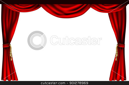 Curtain clipart stage screen Cinema stock Theatre curtains Theatre