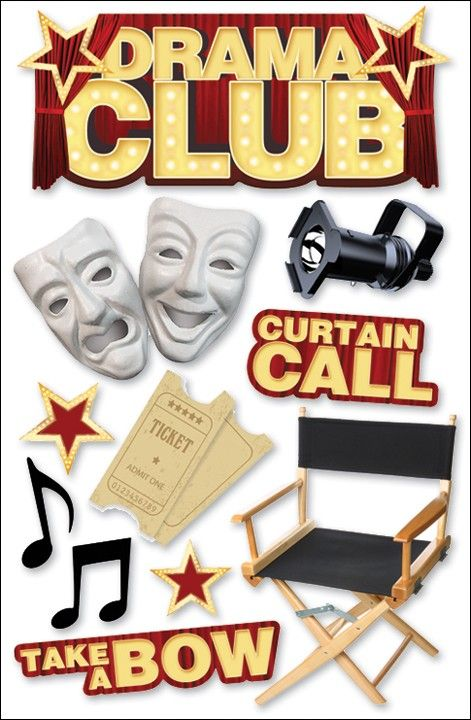 Celebrity clipart drama class Sticker Paper Acting/Theater Club House