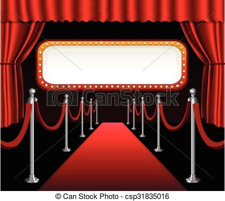 Movie clipart elegant Premiere billboard red theater of