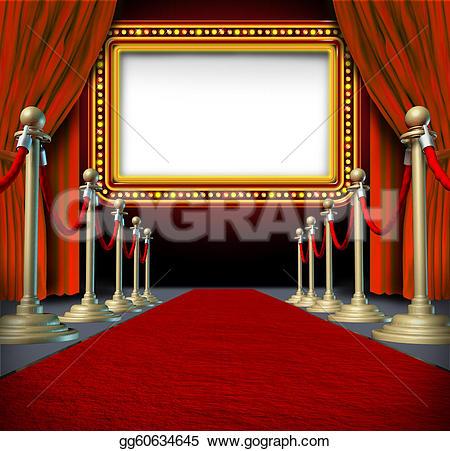 Movie clipart elegant And sign curtains in elegant