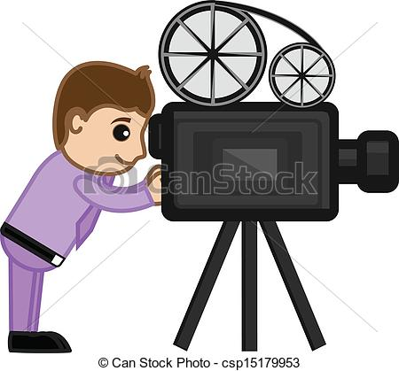 Photography clipart film shooting camera Shooting Camera of csp15179953 Drawing