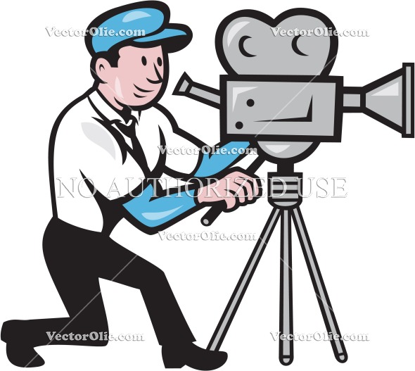 Movie clipart filmmaking Cameraman cartoon graphics illustration
