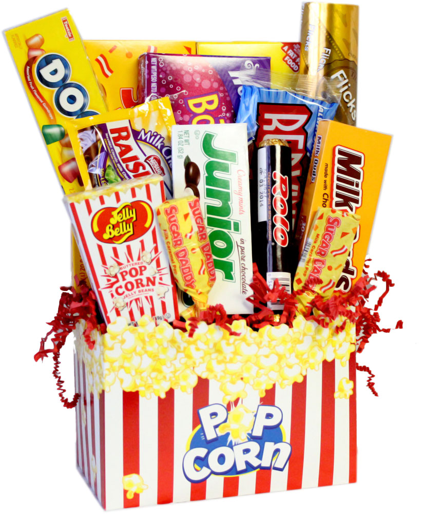 Movie clipart gift basket Nostalgic Candy  Gift Baskets