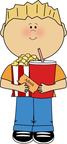 Popcorn clipart kid Movie clipart theater with collection