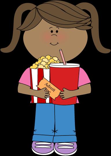 Popcorn clipart kid To Movie Art Clip Movies