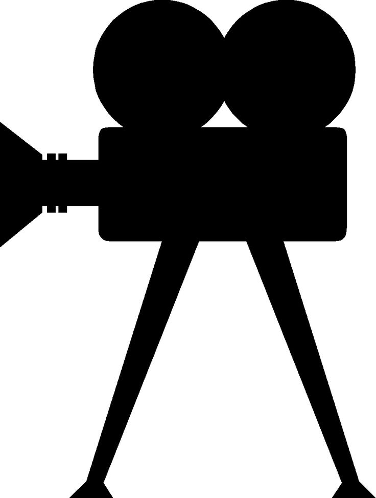 Movie clipart hollywood camera 244 silhouette  Hollywood/Movie about