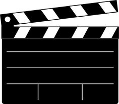 Movie clipart hollywood camera Camera vector art Action art