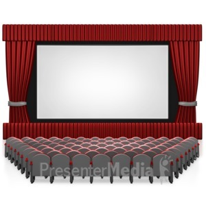 Movie clipart media Presenter PowerPoint Empty Templates Presentation