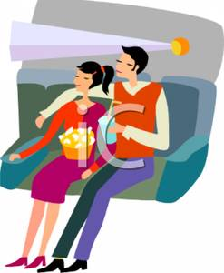 Movie clipart movie date Couple In In Movie A