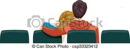 Movie clipart movie date View Vector Back Clip of