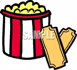 Popcorn clipart ticket Movie Popcorn movie Free Panda