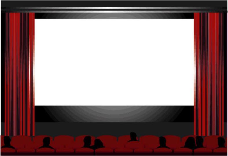 Theatre clipart cinema screen Clipart Screening Clipart Panda Clipart