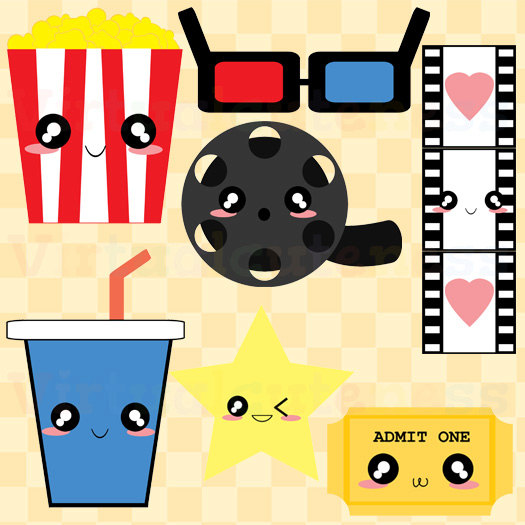 Theatre clipart colorful Clipart Popcorn Movie Theatre Art