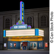 Bulding  clipart movie theater And Stock shot night Box