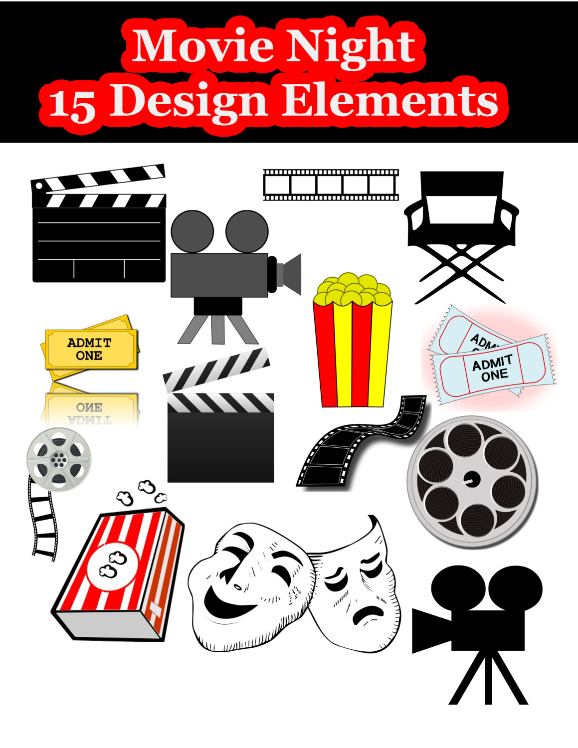 Movie clipart nite Clipart hollywood Gallery Night Movie